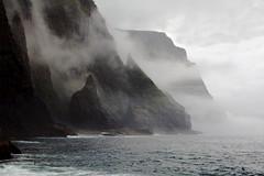 Vestmanna Cliffs (LaDani74) Tags: fog mist faroeislands cliff vestmanna northeneurope scandinavia coastline seascape atlanticocean weather canoneos760d naturescape nature landscape travel travelphotography cloudy færøer