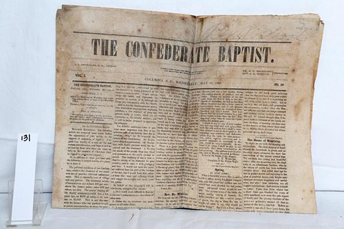 The Confederate Baptist paper May 16, 1863 ($168.00)