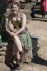 Fairy Girl at the Fair (Ron Scubadiver's Wild Life) Tags: people portrait costume wings renfest texas renaissance festival nikon 70300afp