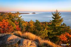 Sugarloaf Mountain, Little Presque Sunrise (Michigan Nut) Tags: fall marquette sugarloafmountain sunrise autumn fallcolors greatlakes lakesuperior michigan upperpeninsula