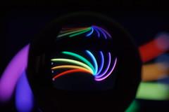 dark sphere (Elisabeth patchwork) Tags: rainbow curves lines sphere glassball lensball black sigma sigmasdquattro sigma105mm