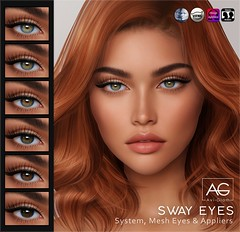 AG. Sway Eyes (Avi-Glam) Tags: aviglam ag sl second life mesh system bom eyes avatar unisex appliers