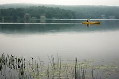 Head Lake series: canoeist (vaneramos) Tags: haliburtoncounty headlake ontario canoe landscape reflection