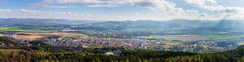 Bojnice Castle and surroundings Panorama - Seagull in Clouds, Slovakia