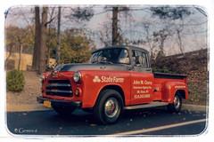 Farm Truck (* Gemini-6 * (on&off)) Tags: truck pickup dodge vehicle transportation bokeh vintage sky clouds trees chrome