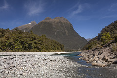 Cleddau River (Joost10000) Tags: fiordland fiordlandnationalpark cleddau river milfordsound newzealand mountain gravel sediment wild wilderness scenic southland southisland south island oceania canon canon5d outdoors nature natur stones temperate rain forest