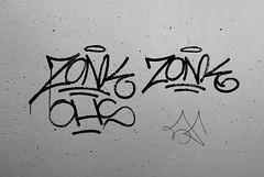 Graffiti in Amsterdam (wojofoto) Tags: amsterdam nederland netherland holland graffiti streetart wojofoto wolfgangjosten tags tag zonk blackandwhite monochrome zwartwit