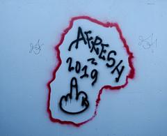 Graffiti in Amsterdam (wojofoto) Tags: amsterdam nederland netherland holland graffiti streetart wojofoto wolfgangjosten tags tag afresh