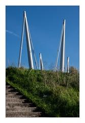 BRIDGE (Mr JM BURT) Tags: dunkerque nord pont graphisme landscape pentax pancake green blue vert bleu stairs