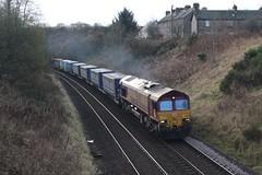66031 4A13 12:22 Grangemouth TDG Siding to Aberdeen Craiginches; Ashfield, Dunblane; 09-11-2019 (graeme8665) Tags: directrailservices intermodal ashfield ews dbcargo