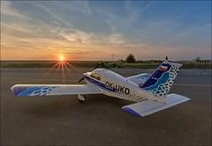 End of flight day. Piper P28 (Jarda Trkal) Tags: airplane fly flying piper pribram airport sunset runway sky sun pilot clouds hangar letadlo létat létání příbram letiště západslunce obloha slunce mraky hangár leteckáfotografie aerialphotos