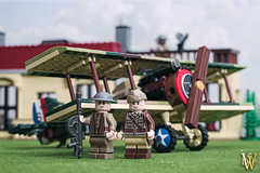 The Yanks Are Coming (Dread Pirate Wesley) Tags: lego moc vignette airplane biplane aircraft spad xiii french american great war wwi vintage veterans 1918