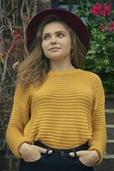 Irina (bartlomiej.chodyna) Tags: model posing walk downtown toruń nikon tamron beauty fashion girl woman photo photograpy photosession light shadow hair face hat yellow nikond750