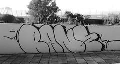 Graffiti in Amsterdam (wojofoto) Tags: amsterdam nederland netherland holland graffiti streetart wojofoto wolfgangjosten throw throwup throwups rane blackandwhite monochrome zwartwit