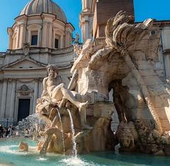 Fontana dei Quattro Fiumi (lauracastillo5) Tags: rome italy city architecture cityscape travel tourist water sky blue outdoors art historical place beautiful
