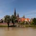 Ulm - Fluss und stadtmauer
