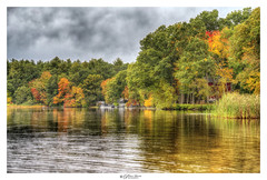 Autumn - Hart Pond, MA (Pearce Levrais Photography) Tags: landscape leaf lake leaves light tree tourism thebestofhdr travel sky shore shoreline forest water pond foilage autumn autumnleaves autumnal sony a7r3 hdr cloud