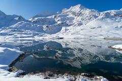 snow@bernina: reflections (1/3) (jaeschol) Tags: berninapass europa europe graubuenden grischuna kantongraubünden kontinent schweiz suisse switzerland