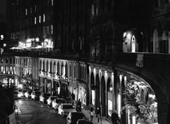 Edinburgh Victoria Street (richardjholt) Tags: edinburgh night hasselblad ilford delta3200 film bw 6x6 mediumformat 60mm 503cw 120