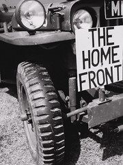 Headcorn Combimed Ops (aquanout) Tags: blackandwhite monochrome vehicle transport jeep war car