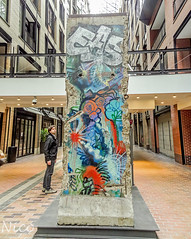 Part of Berlin wall, 1961 to 1989, at Montreal World Trade Centre, donated to the City of Montréal by Germany to commemorate Montréal's 350th anniversary DSC04496 (Nicole Nicky, mostly off temporarily. Catching up,) Tags: murdeberlin berlinwall germany berlin montreal gift 196189 montrealworldtradecenter colorful painted peint coloré quebec canada