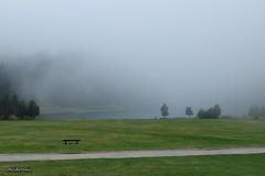 Seguim entre boires.....Seguimos entre nieblas. (AviAntonio) Tags: boira colors paisatge banc persones niebla colores banco personas valldenúria girona catalunya