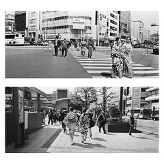 Kyoto Station (jev) Tags: kyoto tempall analogcamera artq blackandwhite bnwphotography bronicaetrsi buyfilmnotmegapixels bwmaniac film filmcamera filmfeed filmphotography ishootfilm japan kimono kodakfilm mediumformat monochrome nyphotographer panoramic peopleinframe peoplewatching streetlife streetphoto streetphotography streetshots streetstyle vintagecamera xpan