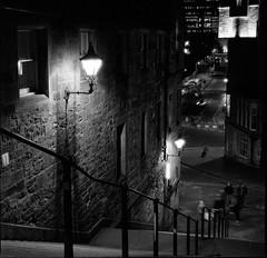 Edinburgh Warriston's Close (richardjholt) Tags: edinburgh night hasselblad ilford delta3200 film bw 120 medium format 6x6 60mm 503cw