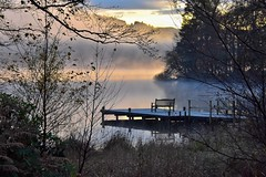 Chill zone (Nige H (Thanks for 25m views)) Tags: nature landscape lake lakewindermere mist sunlight bench happybenchmonday seat cumbria england