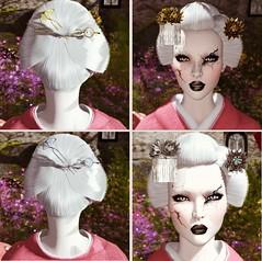 kisetsu - Autumn Kanzashi Gacha (Blogging Days) Tags: kisetsu hair decoration maiko geisha broken doll usagi kick hana gacha autumn kanzashi silver jewelry tama second life