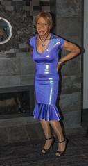 Blue Belle! (kaceycd) Tags: crossdress tg tgirl lycra spandex wetlook metallic rufflehem gown wiggledress platino cleancut 15denier pantyhose pumps peeptoepumps opentoepumps highheels stilettopumps platformpumps stilettoheels sexypumps stilettos s vc vanityclub sisters hoteldarcy washingtondc