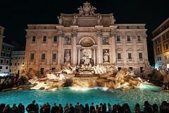 Fontana di Trevi, Rome - Italy (peterhorensky) Tags: fontanaditrevi rome roma italy night people crowd nightphotography architecture travel piazzaditrevi trevifountain baroque