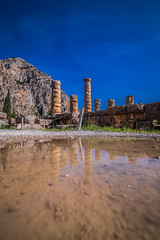 After the rain (Vagelis Pikoulas) Tags: delfoi delphi architecture archaelogical archaeology greece europe travel column reflection reflections water rain blue sky day holidays tokina 1628mm canon autumn november 2019