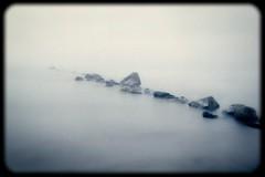 Foggy morning (Geir Bakken) Tags: yashica yashicaministeriii rocks fujicolorc200 fujicolor fuji film filmisnotdead filmphotography filmcamera filmisalive filminotdead 135 135film mist water longexposure landscape seascape