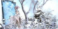 #140 - Winter Elves Land (Yvain Vayandar) Tags: enchantment thegachagarden event secondlife sl fantasy medieval roleplay magic elves elf fairy gacha game win play rare snow animals mirror irrisistible lepoppycock tmcreation ~asw~ sparrow