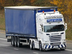 Frank Hudson Transport, Scania R620 (L3FHT) On The A1M Northbound (Gary Chatterton 7 million Views) Tags: frankhudsontransport scaniatrucks scaniar620 l3fht trucking wagon lorry haulage distribution logistics flickr canonpowershotsx430 photography
