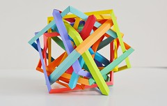 12 Intersecting Degenerate Pentagons (Byriah Loper) (Byriah Loper) Tags: origami origamimodular modularorigami modular compound complex byriahloper paperfolding paper polygon polyhedron