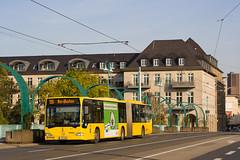 Ruhrbahn 6505 | Schloßbrücke, Mülheim (schmidtkemper) Tags: gelenkbus citaro sonne brücke broich mülheim