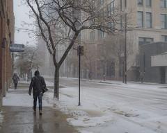 Autumn Snow (RW Sinclair) Tags: 2019 25mm 25mmf18 7artisans autumn chicago f18 fall fuji fujifilm il illinois november snow xt1 xtrans manual prime street urban streetphotography city