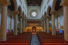 St Mary & St Nicholas' (Croydon Clicker) Tags: church chancel pillars pews seats font window arches architecture aisle wilton salisbury wiltshire nikon nikkor