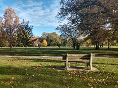 The Oval (dankeck) Tags: osu ohiostate theohiostateuniversity fall autumn ohio columbus franklincounty state bench clouds sky