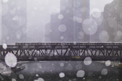Some Warm & Dry, Some Not So (aerojad) Tags: eos canon 80d dslr 2019 autumn outdoors city urban chicago snow snowing snowkeh cityscape citylife cityview cta train traintracks trains traintrack chicagoriver river theloop stranger strangersinmyfeed busystranger bokeh