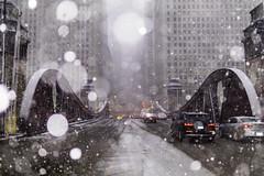 Slush Hour (aerojad) Tags: eos canon 80d dslr 2019 autumn outdoors city urban chicago snow snowing snowkeh cityscape citylife cityview lasallestreet theloop bokeh