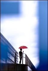 F_MG_7956-Canon 6DII-Tamron 28-300mm-May Lee 廖藹淳 (May-margy) Tags: maymargy 人像 紅傘 下雨 欄杆 模糊 散景 幾何構圖 點人 玻璃 反射 街拍 線條造型與光影 天馬行空鏡頭的異想世界 心象意象與影像 台灣攝影師 基隆市 台灣 中華民國 色塊 portrait red umbrella raining guardrails blur bokeh humaningometry humanelement glass mirrorimage streetviewphotography linesformsandlightandshadow mylensandmyimagination naturalcoincidencethrumylens taiwanphotographer keelungcity taiwan repofchina colorblocks fmg7956 canon6dii tamron28300mm maylee廖藹淳