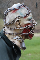 """""""Man is born free and everywhere he is in chains."""" -Jean-Jacques Rousseau (Craig Walkowicz) Tags: mask chains pain torture creepy scary fright halloween tormented suffering zombie undead monster dark evil ccw"""