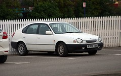 1997 Toyota Corolla 5dr (carsbusestrainsandtrucks) Tags: vehicle details manufacturer toyota model not available colour white type lcv fuel petrol engine size 1587cc bhp 79 age 22 years 3 months registered date 01 august 1997 year corolla car cars 16 l