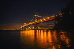 Have You Ever Been Lonely? (Thomas Hawk) Tags: america sf sanfrancisco california bridge sunset usa unitedstates unitedstatesofamerica baybridge bayarea sfbayarea norcal westcoast yerbabuenaisland fav50 fav10 fav25 fav100