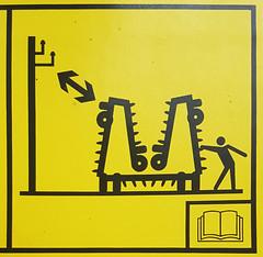 Monster Hanging Instructions (Bracus Triticum) Tags: monster hanging instructions stick figure アルバータ州 alberta canada カナダ 8月 八月 葉月 hachigatsu hazuki leafmonth 2019 reiwa summer august