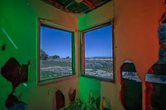 The Hinkley View Room (Nocturnal Kansas) Tags: night nocturnal moon full nightphotography longexposure lightpainting california motel windows d800 nikon led1 protomachines