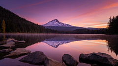 Trillium Lake (Jeremy Duguid) Tags: trillium lake reflection landscape travel nature oregon beauty sunrise morning dawn reflections lakes rocks clouds pnw pacific northwest north west sony jeremy duguid mount hood mt mountain mountains outdoor